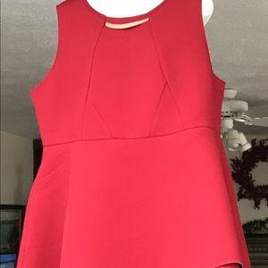 Eloquii Red Bonded Pique Fashion Skirt Size 20